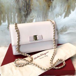 Salvatore Ferragamo Blush Ginny Bow Chain Bag